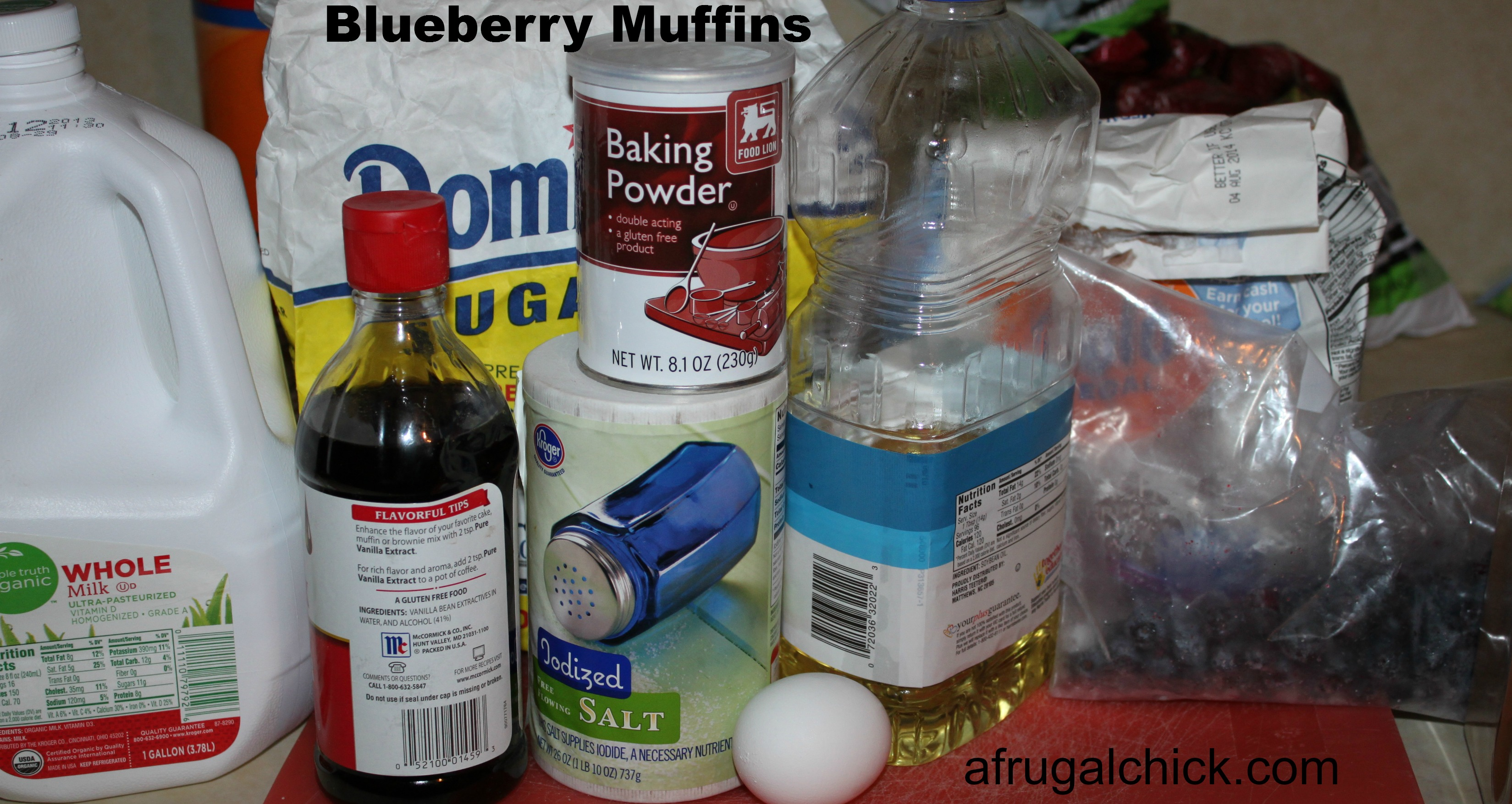 muffin ingredients