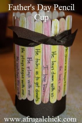 Father S Day Craft Pen Pencil Holder