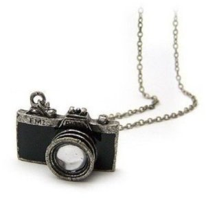 Post image for Retro Camera Photographer Necklace in Black $3.61 Shipped