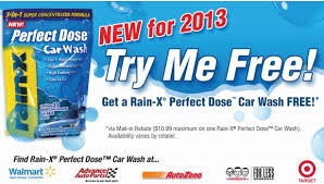 Post image for FREE Rain-X Perfect Dose Car Wash Through May 10th (After Mail-In Rebate)