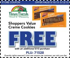 Post image for Farm Fresh: Free Shoppers Value Creme Cookies With $10 Purchase