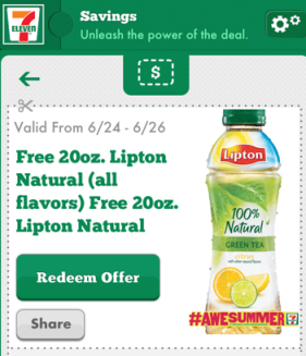 Post image for 7-Eleven: Free 20 oz. Lipton Tea Through June 26th (Mobile App Users Only)