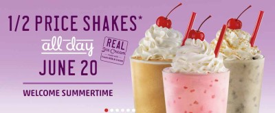 Post image for Sonic Half Price Milk Shakes- June 20, 2013