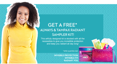 Post image for FREE Always and Tampax Radiant Sampler Kit