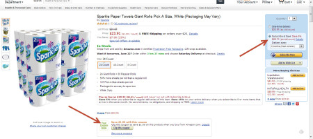 Post image for Amazon: Sparkle Paper Towels $.60 Per Regular Roll