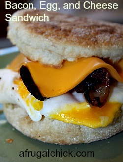 Post image for Cooking For One Recipe: Bacon, Egg, and Cheese Sandwich