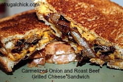 Post image for Cooking For One: Carmelized Onion and Roast Beef Grilled Cheese Sandwich