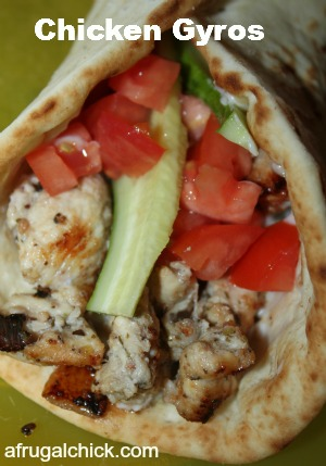 Post image for Cooking For One: Chicken Gyros