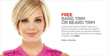 Post image for JCPenney Salon: Free Bang Trim or Beard Trim Through June 30th