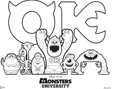 Post image for Monsters University Activity Sheets