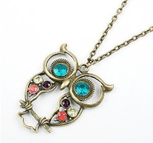 Post image for Amazon-SUPER CUTE Owl Necklace Only $.75 Shipped