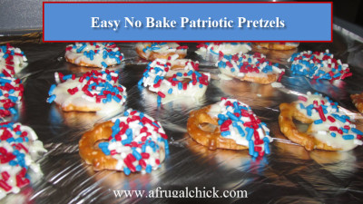 Post image for No Bake Easy 4th of July Pretzel Recipe!