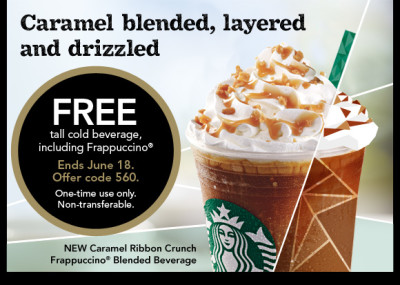 Post image for GONE: Starbucks: FREE Tall Cold Beverage
