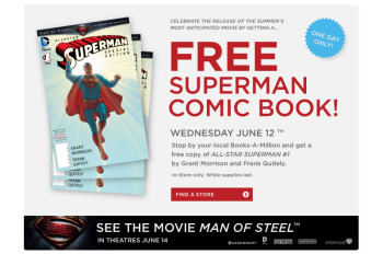 Post image for Books-A-Million- Free Superman Comic June 12th
