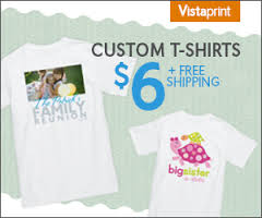 Post image for Vistaprint: Custom T-Shirt $6 + FREE Shipping