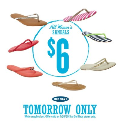 Post image for Old Navy 7/20: $6 Sandals