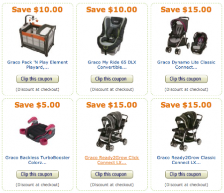 Post image for Amazon: New High Value Graco Coupons