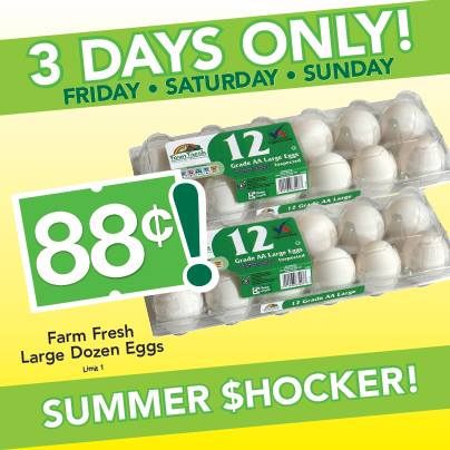 Post image for Reminder: Farm Fresh Supermarket $.88 Eggs