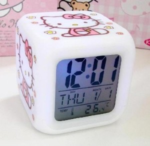 Post image for Amazon-Hello Kitty Alarm Clock w/ Glow LED Lights And Thermometer Just $4.99