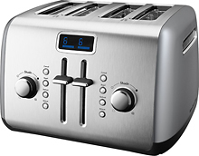 Post image for BestBuy.com Deal of the Day: KitchenAid – 4-Slice Wide-Slot Toaster – Contour Silver $49.99