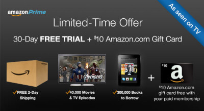 Post image for FREE 30 Day Trial Of Amazon Prime Membership