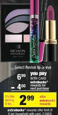 Post image for CVS: Revlon Lip or Eye Color as low as $.99