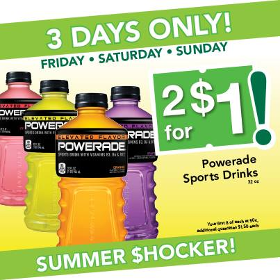 Post image for Farm Fresh Supermarket: Powerade $.50