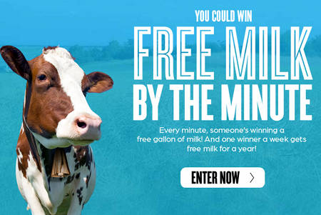 Post image for Free Gallon of Milk Coupon- A Winner Every Minute