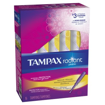 Post image for Amazon: Tampax Radiant Plastic Unscented Tampons $1.97 Shipped