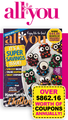 Post image for October 2013 All You Magazine Coupons