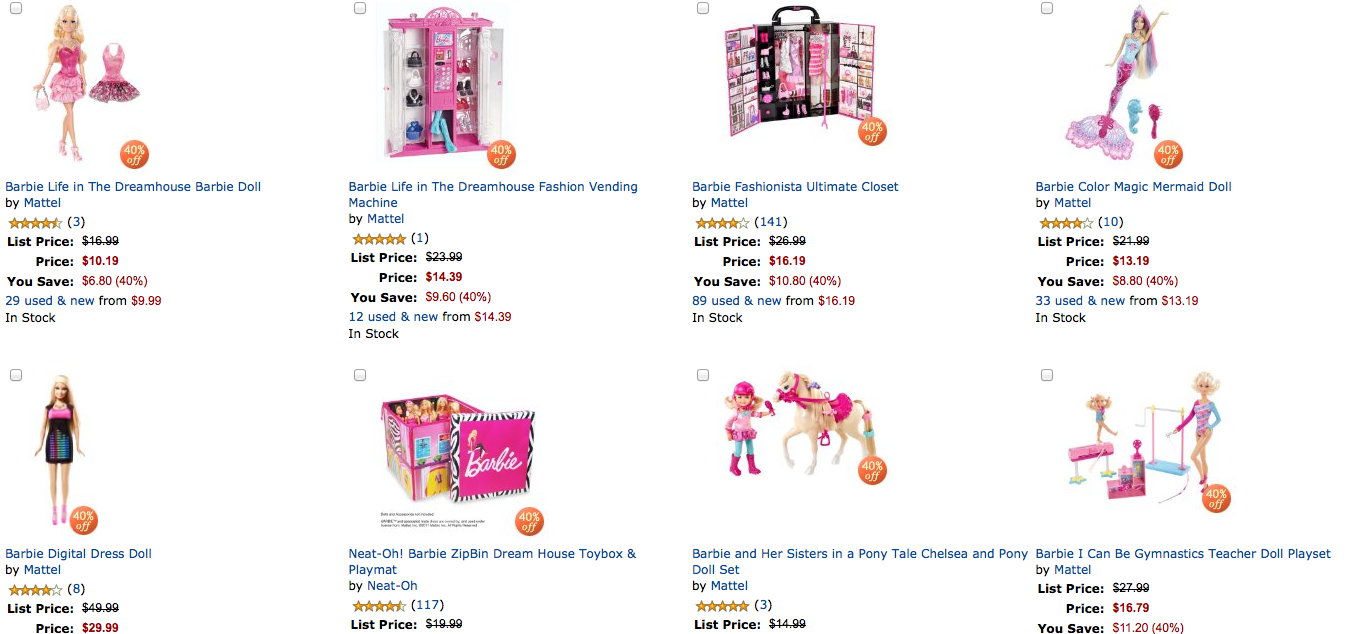 amazon barbie screen shot