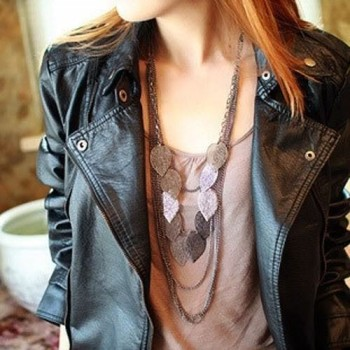 Post image for Amazon: Bohemian Style Multilayer Leaf Long Necklace $1.99 Shipped
