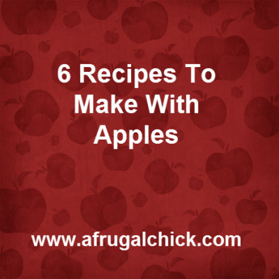Post image for Apple Recipe Round Up (And A Craft)
