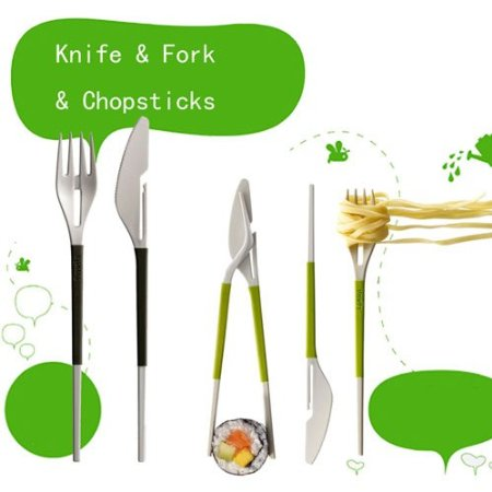 Post image for Amazon: Knife Fork Chopsticks Combination Tableware