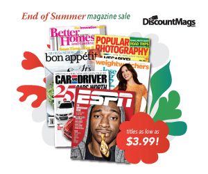 Post image for End Of Summer Magazine Sale