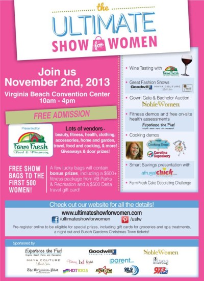 Post image for Come See Me November 2nd at the Ultimate Show for Women