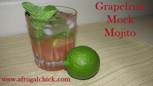 Post image for Easy Mojito Recipe: Grapefruit Mock Mojito