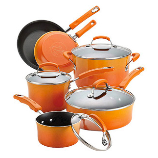 Post image for HURRY: Rachael Ray 10-Piece Porcelain Enamel Non-Stick Cookware Set $28