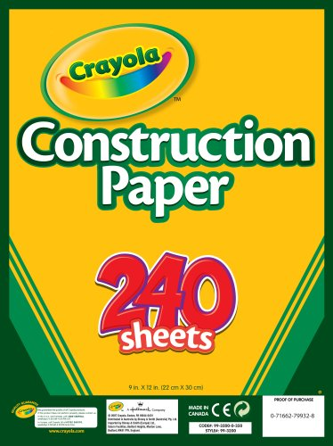 Post image for It's Back! Amazon-Crayola 240 Sheet Construction Paper Just $2.50