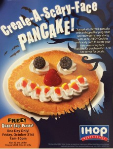 ihop scary face pancake 2014