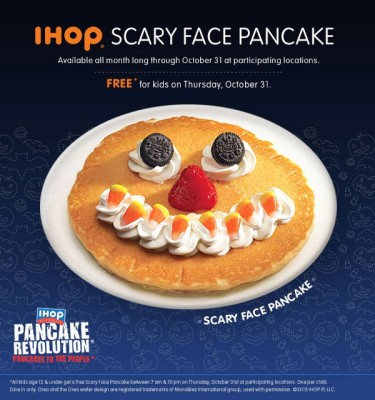 Post image for Free Scary Pancakes at IHOP on Halloween