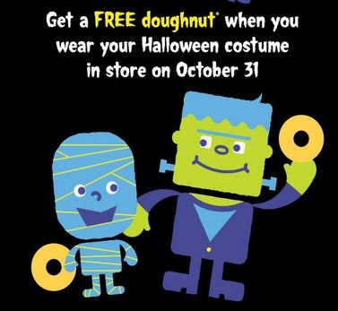 Post image for Halloween: Free Krispy Kreme Doughnut