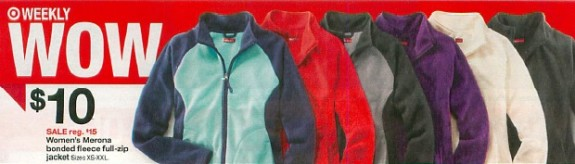 Post image for Target: Women's Fleece Jackets $6.66 Each With Printable Coupons