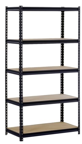 Post image for Amazon-Black Steel Heavy Duty 5-Shelf Shelving Unit $49.00