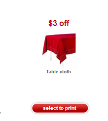 Post image for Target: Possible Free Tablecloth With Printable Coupon
