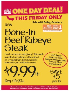 Post image for Whole Foods Mid-Atlantic 10/4: Bone- In Beef Rib Steaks