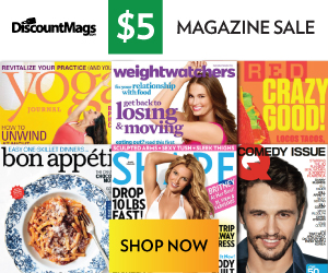 Post image for Magazine Monday Sale $5