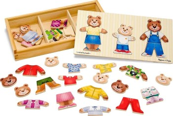 Post image for Amazon: Melissa & Doug Wooden Bear Family Dress-Up Puzzle $8.99