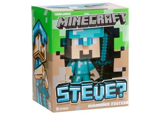 Post image for Minecraft Diamond Edition Steve: 6 Inch Vinyl Figure