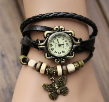 Post image for Wrap Around Leather Bracelet Watch-$4.39 Shipped